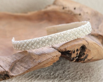 Pearl Beaded Headband, Wedding Headband, Bridal Headband, Simple Headband for Women