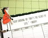 Cute Fox Planner Paperclip Watercolor Art Hipster Dapper Sheriff