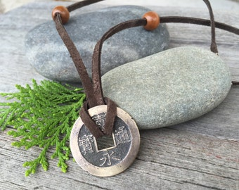 Echoes of Edo. Genuine Ancient Japanese Coin Necklace. long