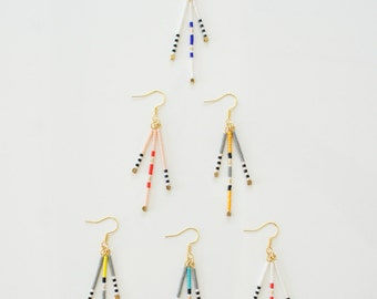 Native American Fringe Earrings, Seed Bead Earrings,Stylish native american colorful earrings,