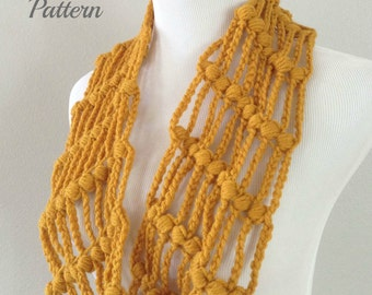 CROCHET PATTERN - Crochet Infinity Scarf Pattern, Circle Cowl, Infinity Cowl Pattern, Circle Scarf Pattern, Easy Beginner Crochet Pattern