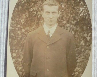 Vintage/Antique English Photo - Man Stood Outside