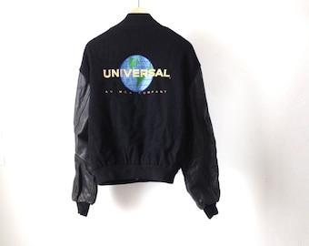 UNIVERSAL studios vintage LETTERMAN leather men's vintage jacket coat
