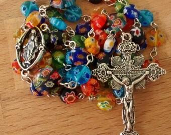 Reclaimed Millefiori Rosary