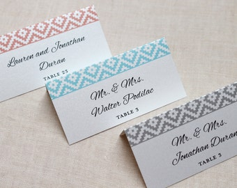Patterned Escort Card