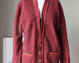 Vtg 60s HIPSTER Cardigan McGregor Scandia Button Cardigan Sweater Rockabilly M Mod Indie fashion