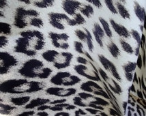 "60"" Wide Beige Brown Black Cheetah Skin Pattern Animal Print Vinyl Plastic Fabric Drapey Semi Sheer for Sewing Clothes and Decor ST"