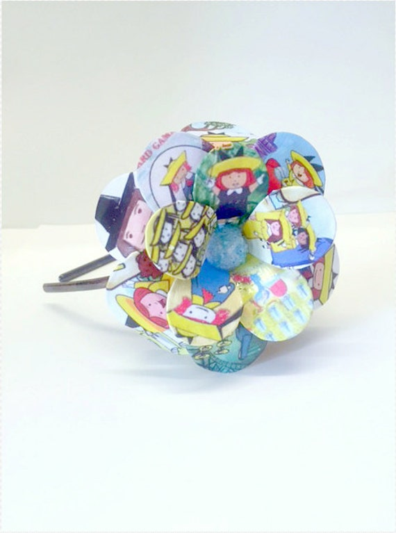 Little School Girls Daisy Paper Mache Headband