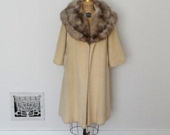 Vintage 1960s Lilli Ann Coat - 60s Fox Swing Coat - The Claudette