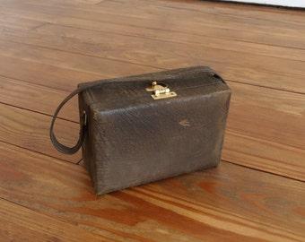 Vintage 1940s Bag - 40s Box Bag - The Felicity
