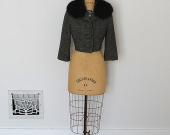 Vintage 1950s Jacket - 50s Fox Fur Jacket - The Jeannette