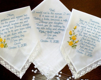 Wedding gifts for Mom Dad and Mother In-Law By Canyon Embroidery