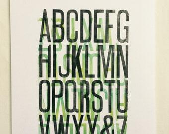 Folk City Press Letterpress Alphabet 14 x 11 inches