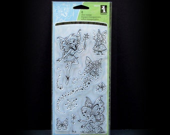 Fairy Stamps, Cling Stamps, Rubber Stamps, Clear Stamps, Fae Stamps, 8 Cling Stamps, Inkadinkado Stamps, Fairy Dust Stamps, Scrapbook Stamps