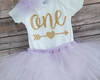 First Birthday Outfit Girl; One Birthday Tutu Outfit; baby girl 'one' tutu outfit; bodysuit and tutu for first birthday