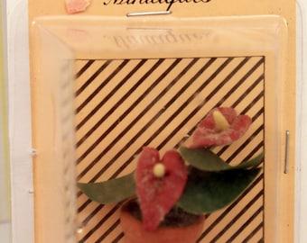 Miniature Tropical Houseplant or Patio Plant Dollhouse Decor Vintage NIP