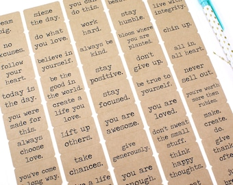 Encouragement, Motivation & Life Quotes Sticker set  | set of 50 labels to give and keep - envelope seals, planner, daily devotional