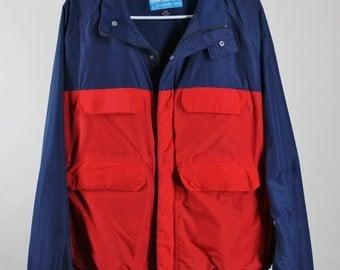 Mens Jacket. Windbreaker Jacket. Nautical Jacket. Two Tone Jacket. All Weather Jacket. Heavy Duty. Vintage. Xl. GOGOVINTAGE. FREE SHIPPING