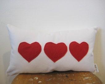 heart pillow, Valentines day decor, Scandinavian, minimalist
