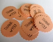 Wedding favors Gift tags Coral Wedding favor gift tags thank you tags thank you notes thank you gift tags peach