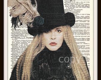 Stevie Nicks Fleetwood Mac Gypsy Lyrics Dictionary Art Print