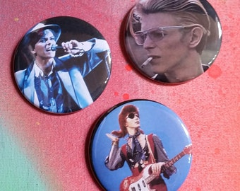 Your choice David Bowie fan pins pin badge pinback button hand pressed 2-1/4 inch pin retro fashion pingame strong