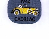 Authentic 1932 Cadillac Collectible Retro Vintage Iron on Patch Applique