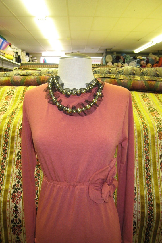 Orange color top with rose decoration just for your (v133)