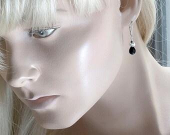 Sterling Silver Jet Earrings