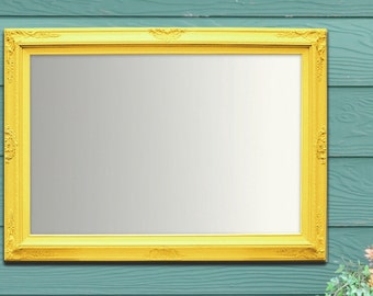 Decorative vintage mirrors for sale large mirror shabby chic for Large white framed wall mirror
