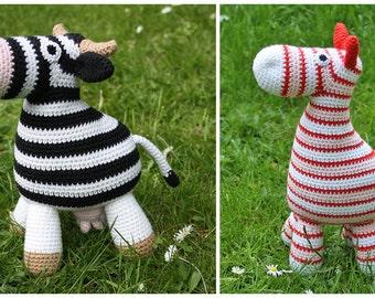 2 PATTERN! Amigurumi Horse and Cow - crochet pattern, PDF