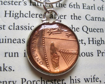 British One Copper New Penny 1P Pendant Necklace