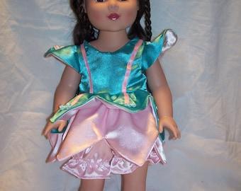 Pretty fairy costume for American Girl size dolls