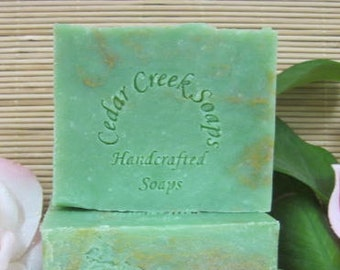 Green Clover Soap - Clover Cold Processed Soap ~ Vegan Soap