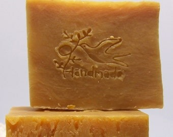 Cinnamon Almond Soap - Olive Oil Cold Processed Soap ~ 85 Percent Organic, Vegan and All Natural Soap