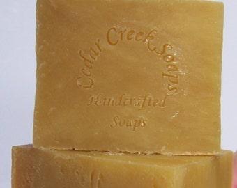 Coconut Lemongrass Soap - Coconut Lemongrass Cold Processed Soap ~ Natural Soap
