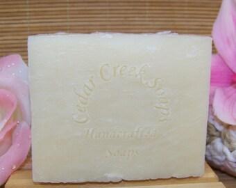 Eucalyptus Lemon Soap - Eucalyptus Lemon Olive Oil Cold Processed Soap ~ 85% Organic, Natural and Vegan Soap