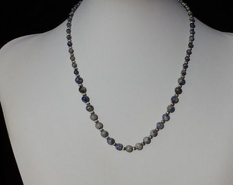 Dumaratite And Sterling Silver 18 In. Necklace