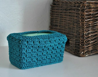 Teal Baby Wipes Box Cover Nursery Decoration  Home Decor Granny Chic