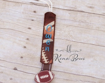 Football Pacifier Clip: Personalized Binky Holder, Baby Boy, Baby Girl, Universal Paci Clip, Pacifier Keeper, Pacifier Leash