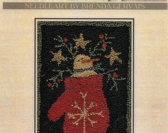 Punch Needle Pattern, Snowflake, With Thy Needle and Thread, Snowman, Winter Decor, Mitten, Punch Needle Embroidery, PATTERN ONLY
