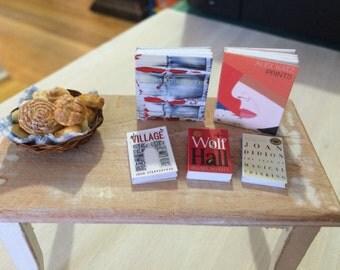 LIBRARY & ART BOOKS  - Dollhouse Miniature 1:12 Scale