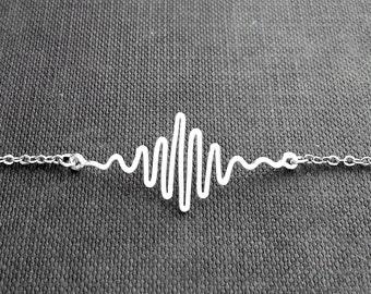Soundwave Bracelet - Waveform Jewelry, Sound Wave Bracelet, Music Jewelry