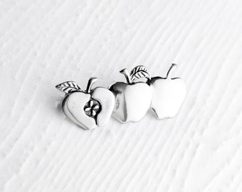 Apple Orchard Sterling Silver Pin Brooch