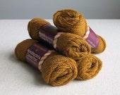 Columbia Minerva Wool Persian Yarn Needlepoint Yarn - Light Bronze - Pumpkin Orange Brown 4 - 25 Yard Skeins Three Ply Divisible