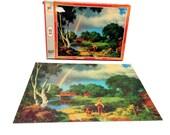 Vintage Paul Detlefsen Jigsaw Puzzle, Good Old Days , Days To Remember,  Milton Bradley Puzzle, 70's Landscape Puzzle, 500 Piece Puzzle
