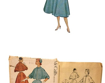 Vintage 50s Pattern McCall's 8928 Sewing Pattern Misses Suit Pattern Misses Jacket Pattern Misses Skirt Pattern Misses Size 16 Retro Pattern