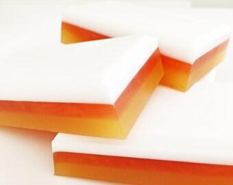 Candy Corn Soap, Halloween Soap, Fall Soap, Autumn Soap, Buttermilk Soap, Handmade Soap, Bath Soap, Bar Soap, Soap Bar, Candy Corn