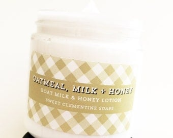 Lotion, Oatmeal Milk and Honey, Goat Milk Lotion, Oatmeal Milk and Honey Hand Body Cream