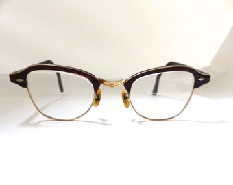 Vintage Imperial Gold filled Browline/ Cat Eye Glasses frames./womens small size
